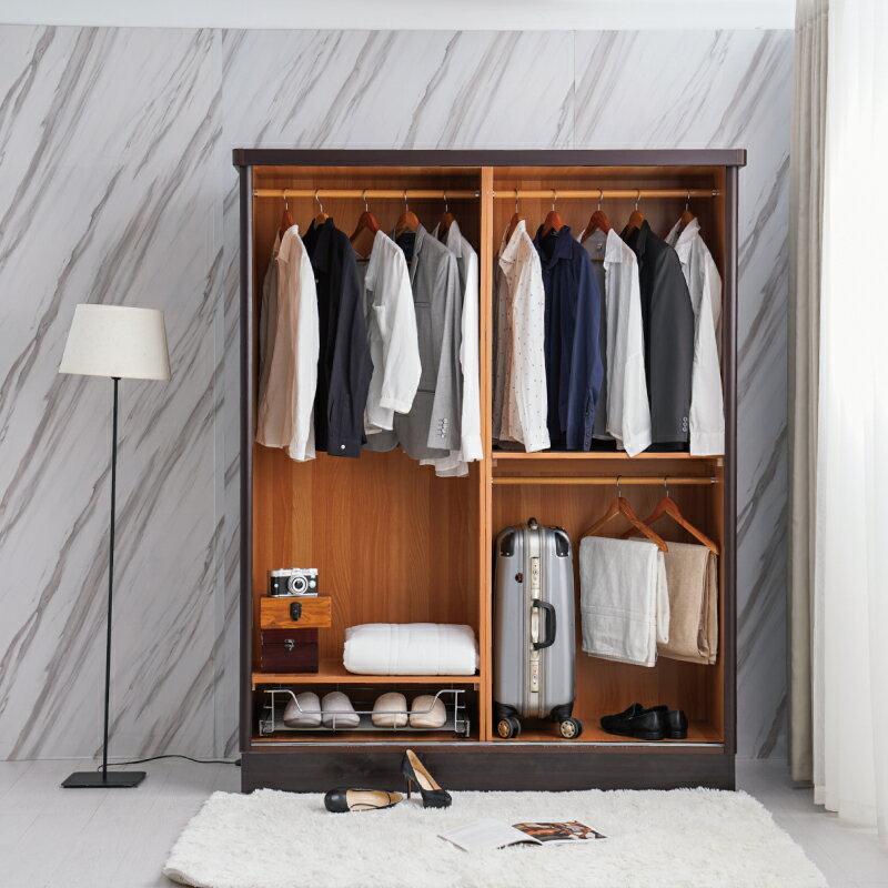 衣櫃【YUDA】美化4*7尺 六分木心板 拉門 / 推門 衣櫥 / 衣櫃 (不含內鏡 可加購) 新竹以北免運 1