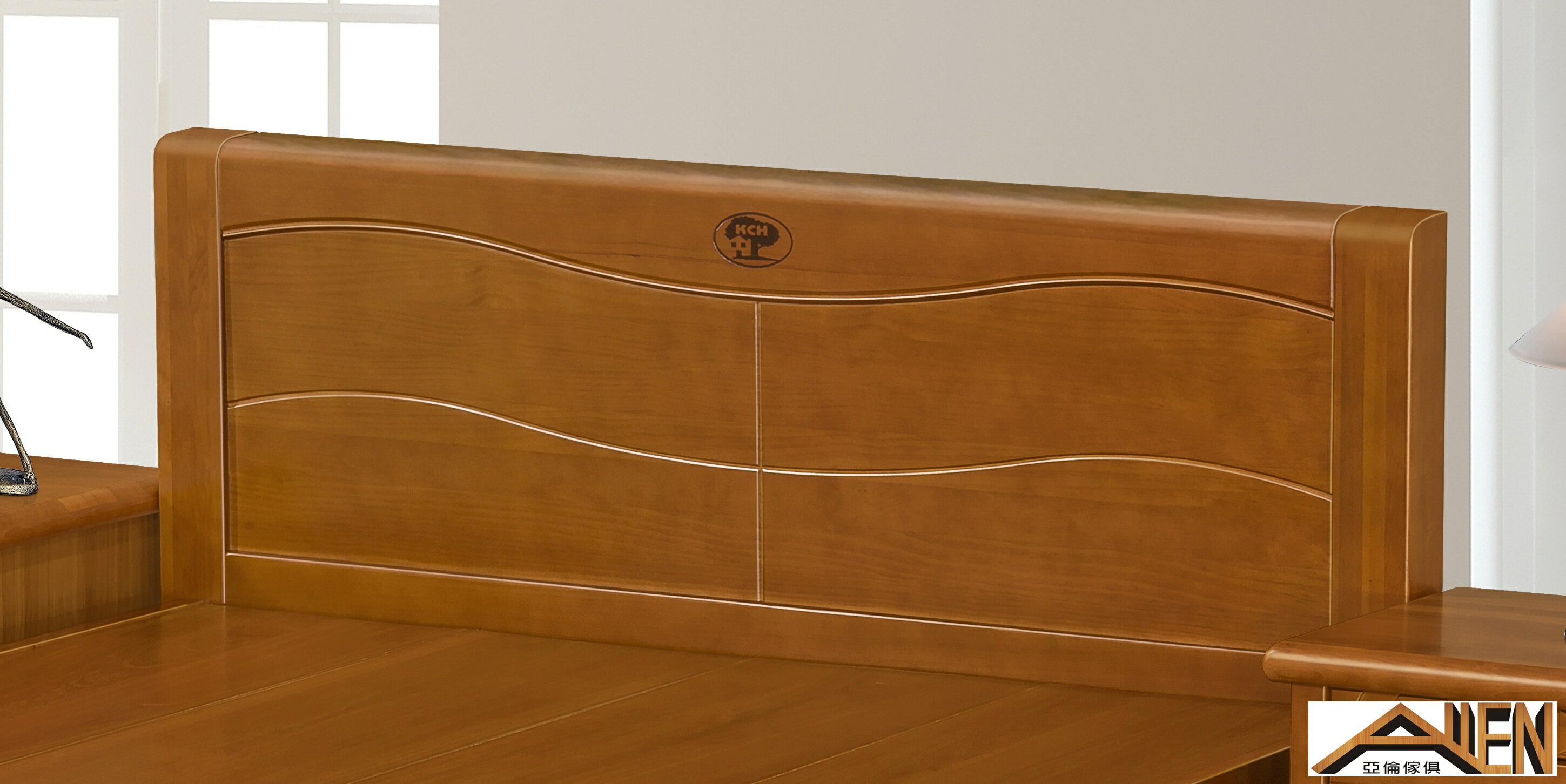 亞倫傢俱*典雅南洋檜全實木6尺雙人加大床架
