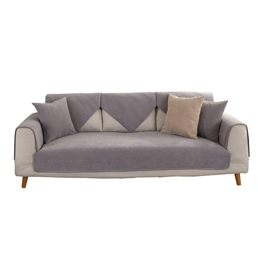 沙發墊 天鵝絨防潑水耐髒 防貓抓 1+2+3人組合沙發墊 沙發套 防水 防貓抓