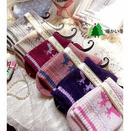 中大 ^~梅花鹿  雪撬^~ 加厚中筒襪保暖兔羊毛襪子 短襪 襪 ~ 御聖願~全店,單筆滿