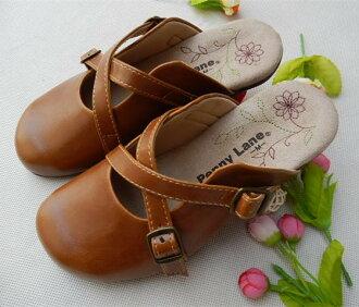 御聖願[同窗會]日本繡花vintage森女系搭扣拖鞋千趣會防滑底圓頭清新平底鞋森女鞋