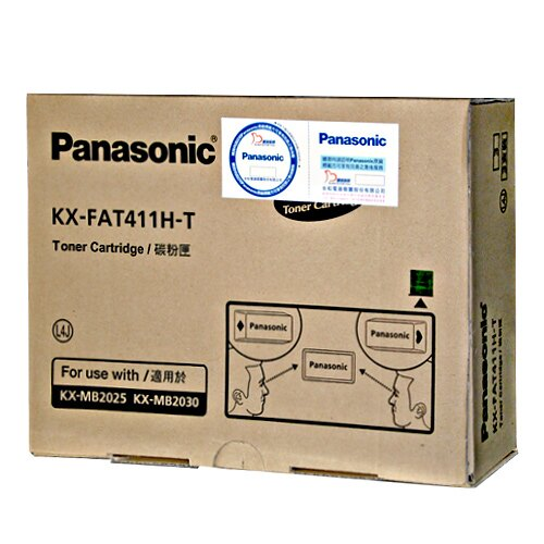 ★下單再賺10倍點數★ Panasonic國際牌 KX-FAT411H 黑色碳粉匣(3隻裝) 適用Panasonic KX-MB2025TW、KX-MB2030TW