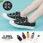 【KWF7587-1】帆布鞋韓版百搭經典 休閒素面棉質帆布 小白鞋 魔鬼氈魔術貼穿拖 2