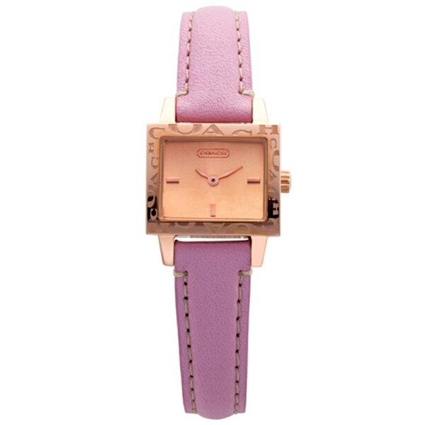 COACHMiniAmanda浪漫腕錶粉紅色錶帶