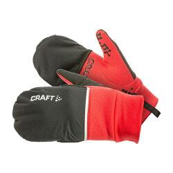 瑞典 Craft 2 IN1防風保暖手套 可控螢幕 [亮紅] HYBRID WEATHER GLOVE  防潑水止滑