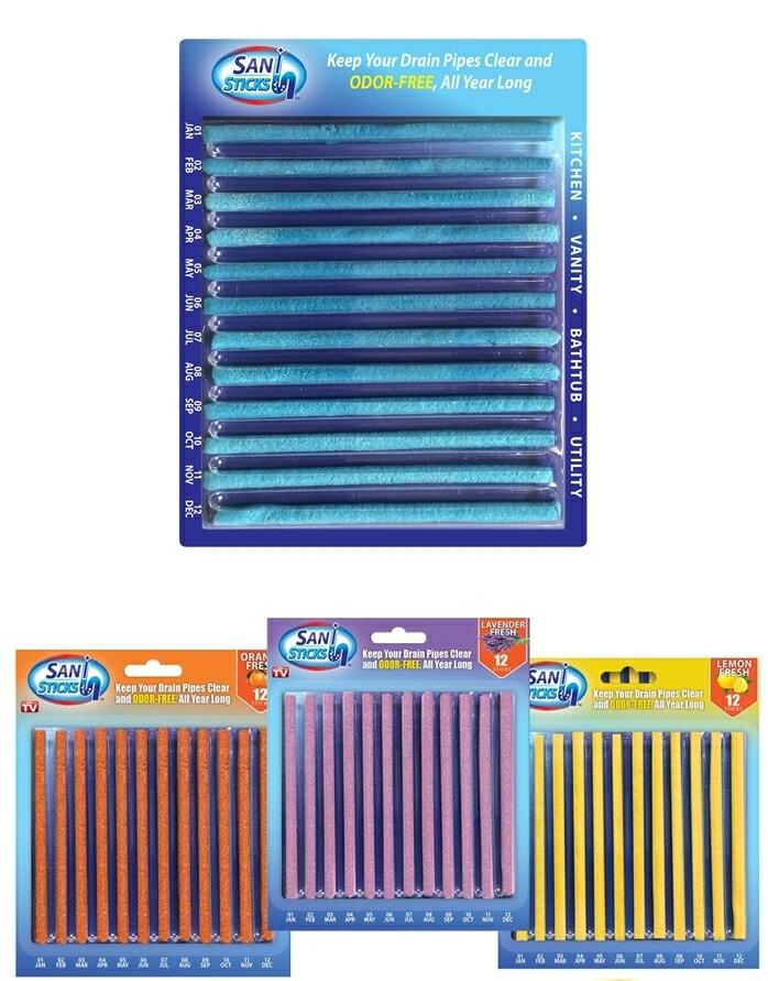 Sani Sticks 水管疏通萬用清潔棒 12枚入 *夏日微風*