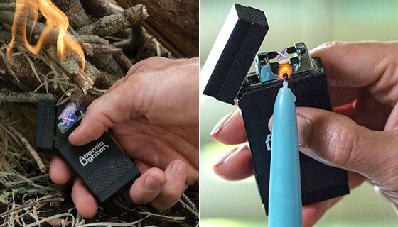 The Atomic Lighter: Rechargeable, Fuel-Free Lightning Lighter - 2 PACK 2