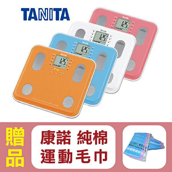 【日本TANITA】九合一體組成計BC565 共4色(粉紅/白/藍/橘),贈品:康諾純棉運動毛巾x1