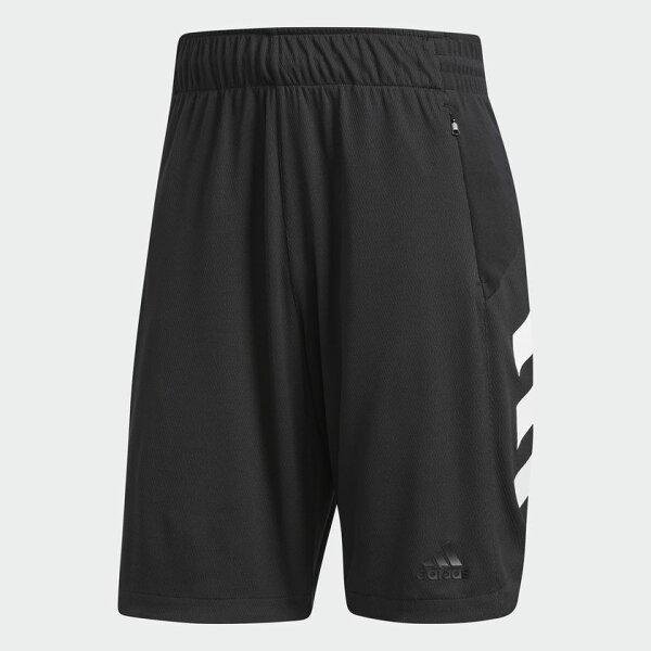 ADIDASACCELERATESHORTS男裝短褲籃球透氣舒適黑白【運動世界】CE6969