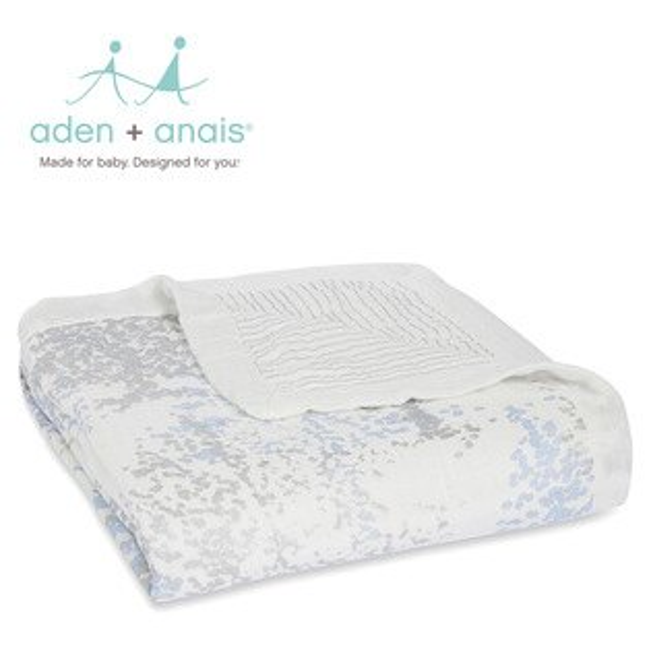 A+A被毯被子寶寶毯蓋毯Aden+Anais美國竹纖維被毯120*120cm-閃耀銀河