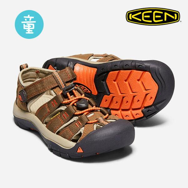 KEEN童款織帶涼鞋NewportH21018270城市綠洲(KIDS、水陸兩用、織帶鞋面、戶外休閒、運動涼鞋)