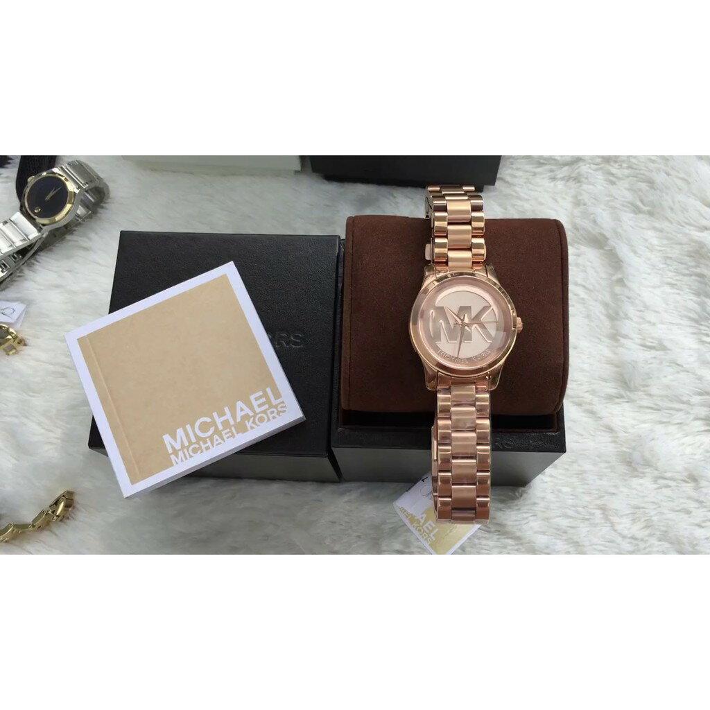 Michael Kors MK大LOGO 玫瑰金 女錶 腕表 手錶 MK3334 【Watch-UN】