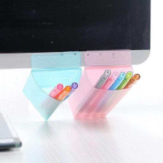 ?MY COLOR?螢幕輔助文具黏貼袋 筆袋 工具 刀片 迴紋針 桌面 收納 整理 雜物 辦公 小物【F57】