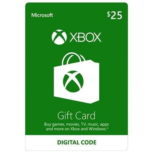 Microsoft Xbox Gift Card $25 (Email Delivery) 0
