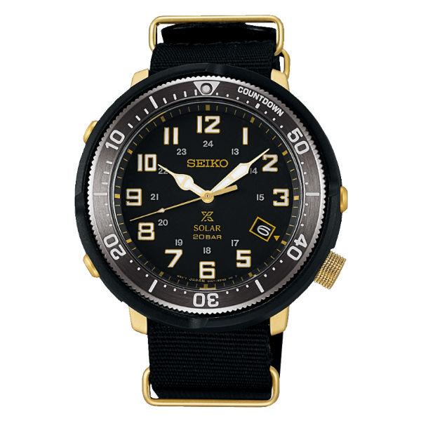 Seiko精工表ProspexV157-0CJ0G(SBDJ028J)軍事風帆布帶太陽能腕錶44.5mm