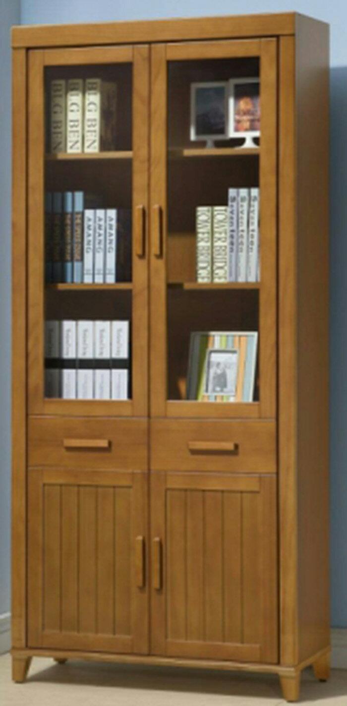 【尚品家具】413-11 南洋檜木半實木3尺書櫃~台灣製造 書櫥/收納櫃/Bookcase