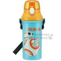 特價399↘〔小禮堂〕迪士尼 星際大戰 日製直飲式水壺《橘藍.BB-8》480ml
