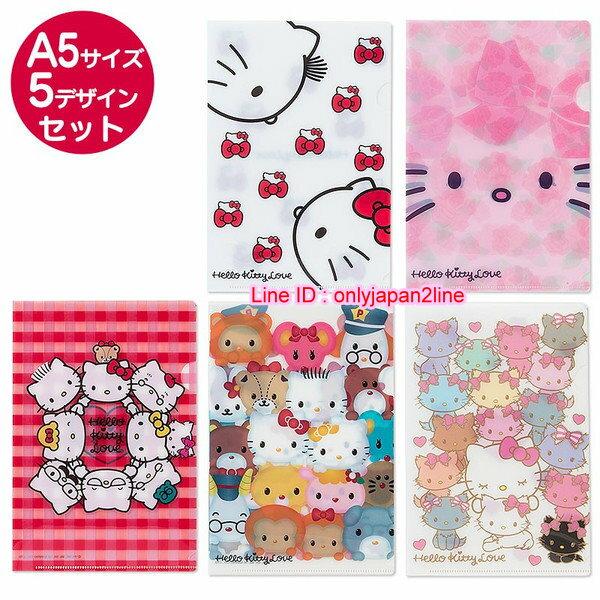 【真愛日本】161103000235入資料夾-長睫毛   三麗鷗 Hello Kitty 凱蒂貓 文件夾 收納夾 日本製
