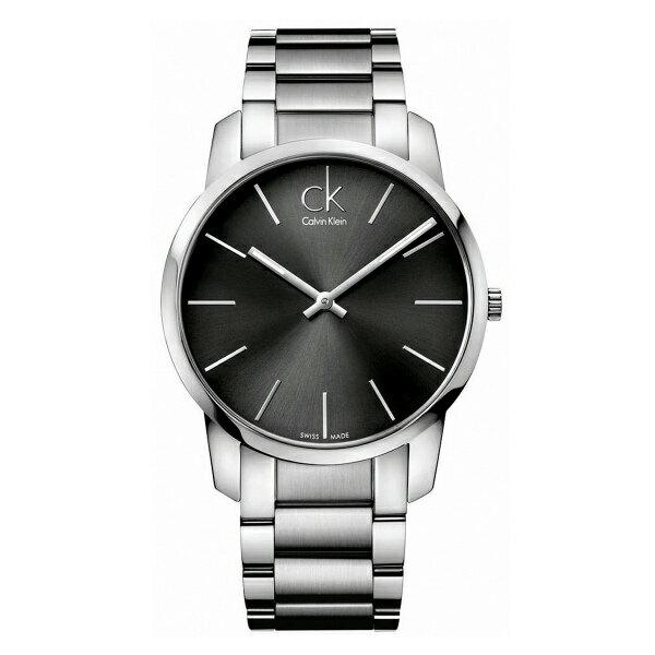 CK CITY(K2G21161)城市經典簡約腕錶/黑面43mm