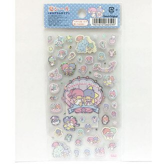 【真愛日本】17042600026 日製雷射貼紙-TS夏日大象 三麗鷗家族 Kikilala 雙子星 貼紙 卡片裝飾