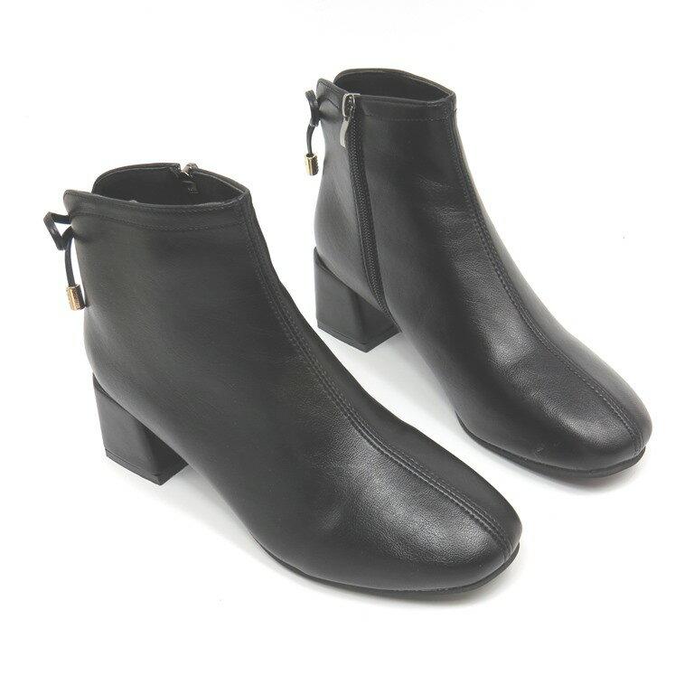 ♥短靴♥簡約時尚中跟短靴15-867-1(黑)*【彩虹屋】現+預