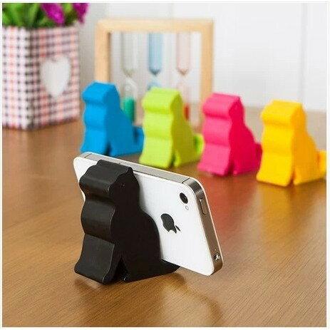 (隨機出色)時尚可愛貓咪支架手機架手機座小貓名片座