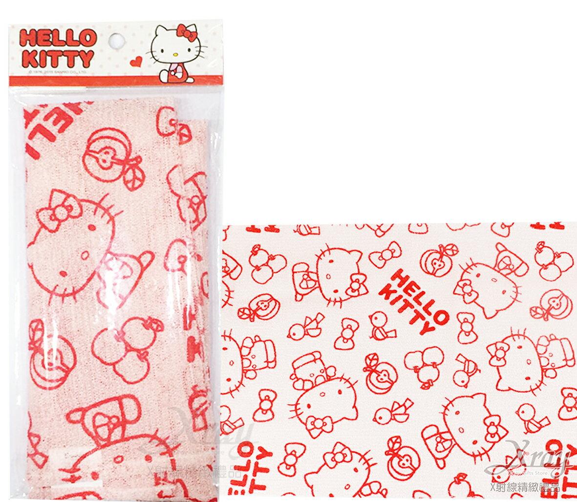 X射線【C263888】Hello Kitty沐浴巾(紅),澡巾/刷背巾/沐浴巾/洗澡/台灣製