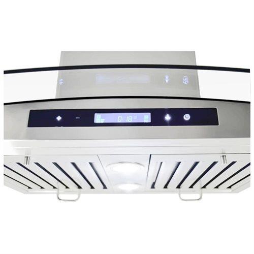 "AKDY 36"" GV-198KZ4-36 Stainless Steel Kitchen Wall Range Hood w/Flat Baffle Filters 2"