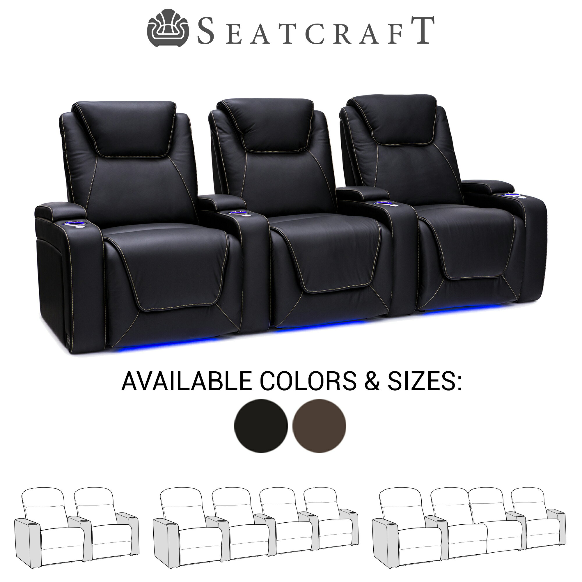 Fantastic Seatcraft Pantheon Big Tall 400 Lbs Capacity Home Theater Seating Leather Power Recline With Adjustable Powered Headrest And Lumbar In Arm Pdpeps Interior Chair Design Pdpepsorg