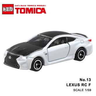 日貨 TOMICA No.13 LEXUS RC F 白 凌志 真車系列 汽車模型 多美小汽車【N201326】
