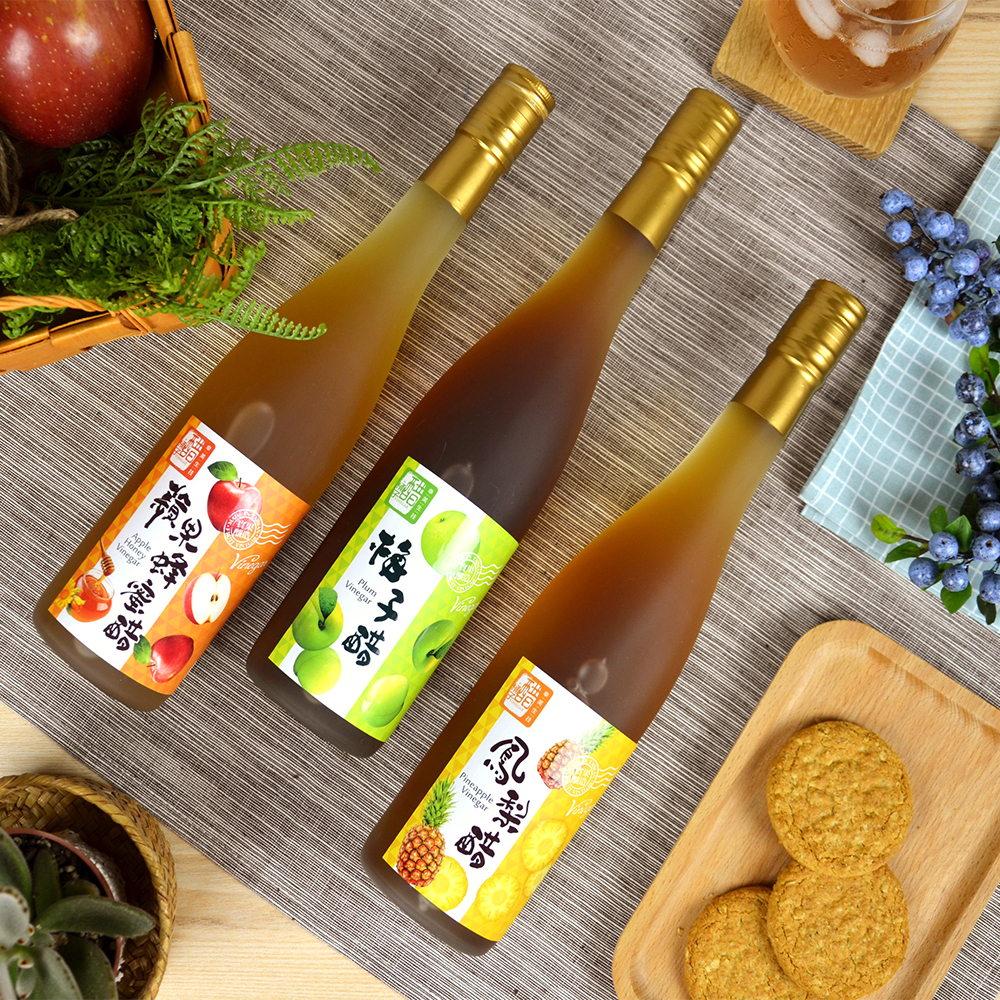 【醋桶子】健康果醋禮盒-蘋果蜂蜜醋2組免運(600mlx2瓶/組) 2