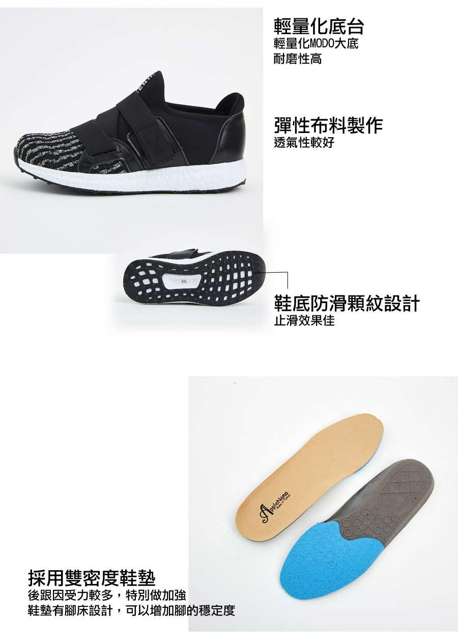 寬肉腳推薦。腳背可調整運動風休閒鞋【QD77251480】AppleNana蘋果奈奈 4