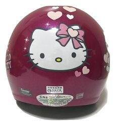 【台灣製造】【兒童卡通安全帽】【HELLO KITTY】 幼兒/兒童安全帽 正版授權 附原廠鏡片 抗UV檢驗合格 桃紅色
