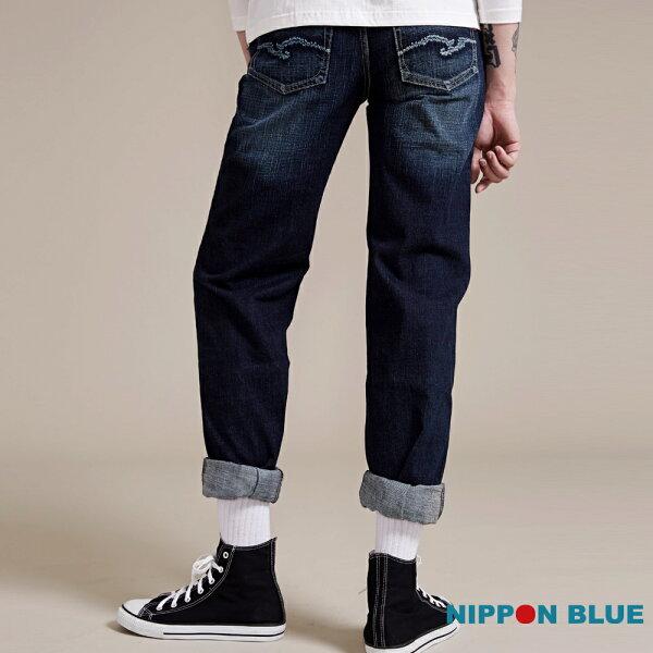 【均一價1580】日本藍簡約中腰直筒褲(深藍)-BLUEWAYNIPPONBLUE日本藍