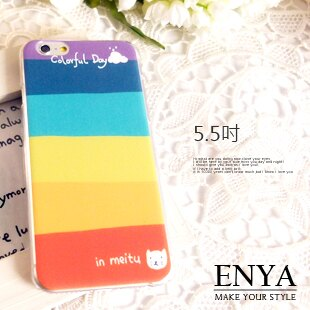 iPhone6+/6S+ Plus 5.5吋 現貨 色彩繽紛背蓋 硬殼(郵局免運) Enya 恩雅