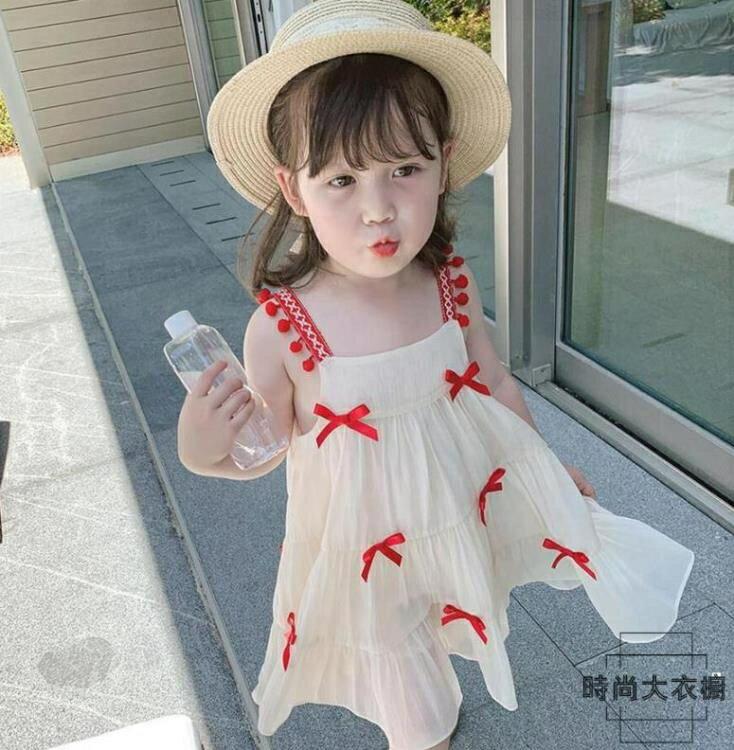 【免運】女童吊帶連身裙童裝小女孩夏款兒童公主裙子夏裝