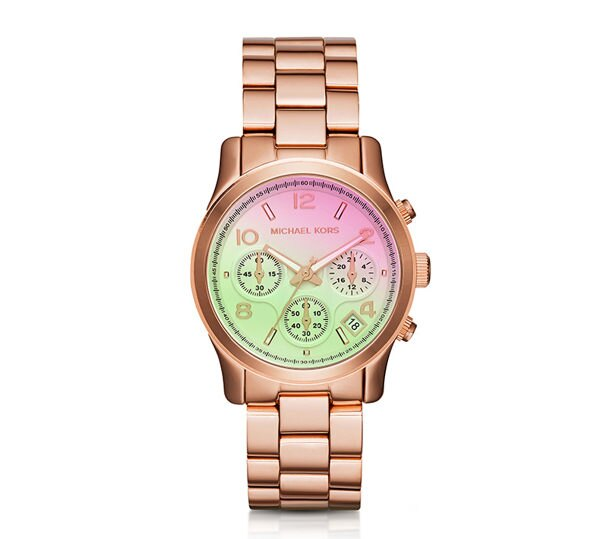 【MICHAEL KORS】正品 優雅時尚玫瑰金不銹鋼錶帶石英錶 MK6179
