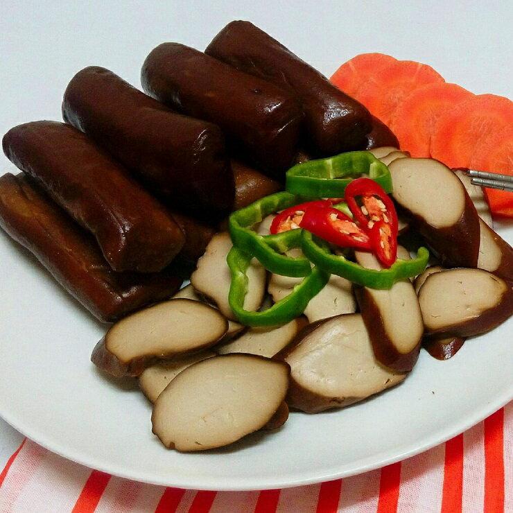大溪素食滷味 龍鷹素食 黑糖滷味 滷素雞x3 買滷味附贈自製芝麻辣油包