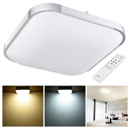 Yescomusa 36w modern dimmable led ceiling light aluminum flush 36w modern dimmable led ceiling light aluminum flush mount square lamp w remote control 0 aloadofball