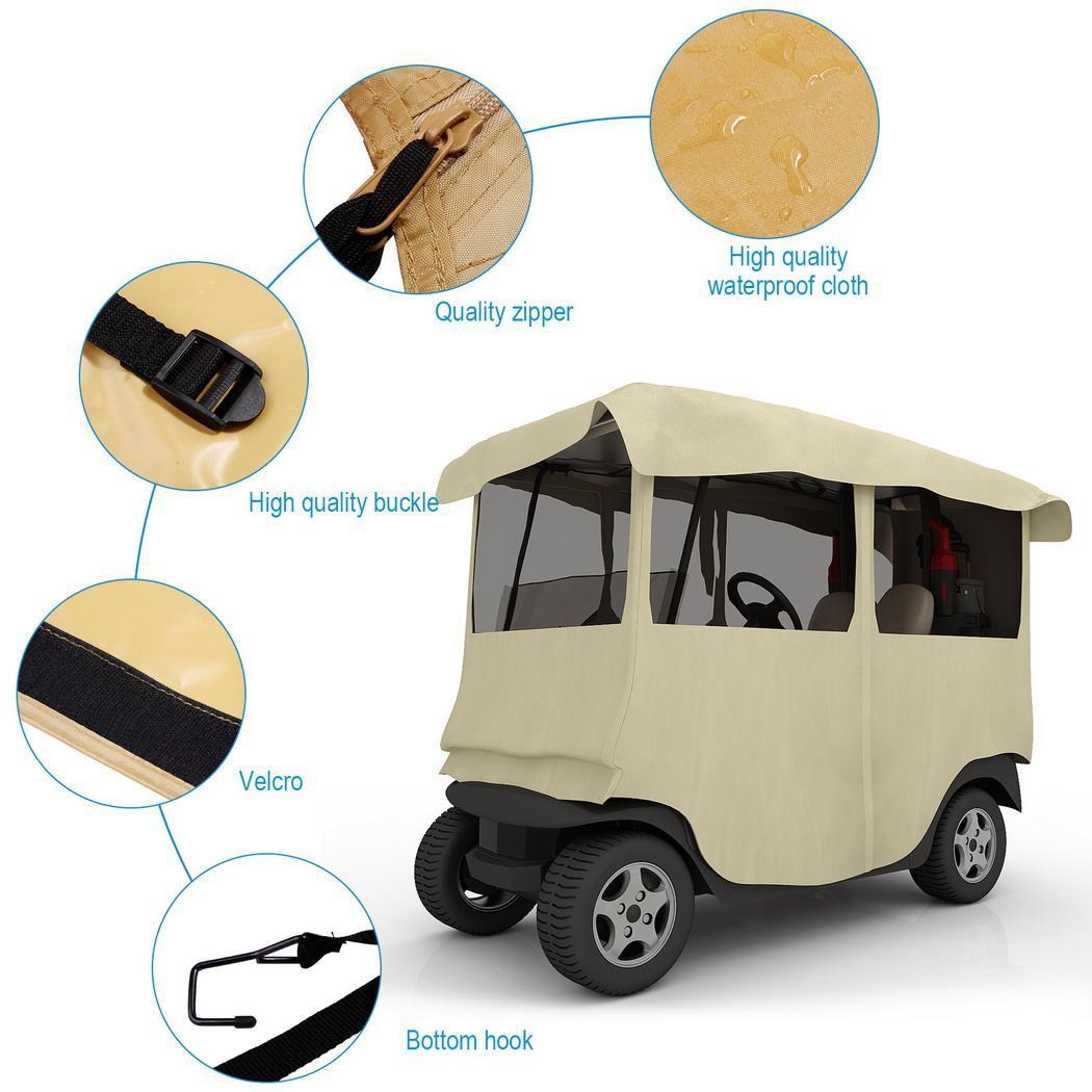 210D Polyester 4 Passenger Golf Cart Cover Storage For EZ GO/ Club Car/ YAMAHA 1