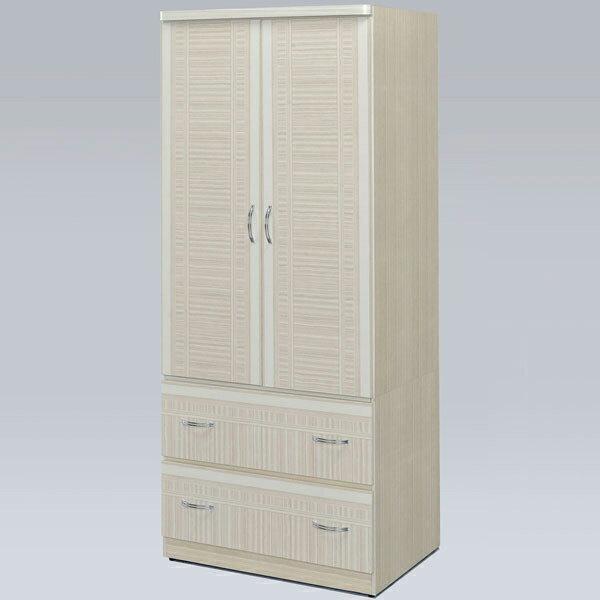 優世代居家生活館:衣櫃衣櫥收納櫃衣物收納櫥櫃置物櫃套房出租《Yostyle》班克2.7x6尺衣櫃(雪松色)