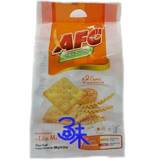 (越南) 日日旺 AFC 原味蘇打餅 1包 300 公克 (12小包) 特價 66 元 【893468027083 】