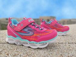 《下殺6折》Shoestw【10613NHPMT】SKECHERS 小童鞋 電燈鞋 LED 桃紅 黏帶 運動鞋