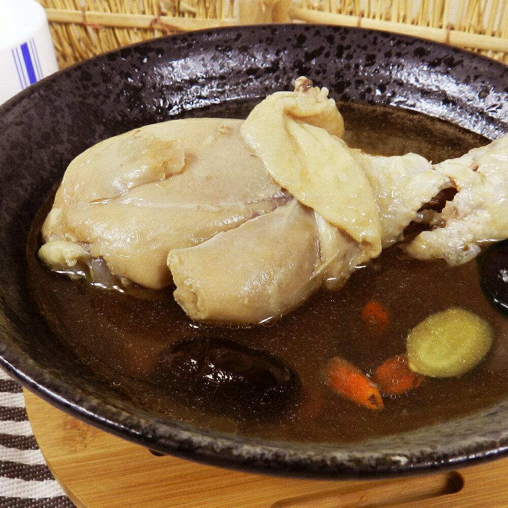 【好神】冬令暖身雞湯8包組(410g±10% / 包)(人參*2,花雕*2,麻油*4) 1