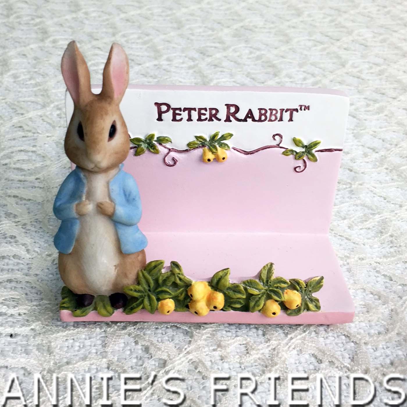 AnniesFriends 彼得兔 Peter Rabbit 金桔粉色名片座 浪漫 典雅 玫瑰 鄉村風 傢飾
