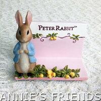 鄉村風zakka雜貨到AnniesFriends 彼得兔 Peter Rabbit 金桔粉色名片座 浪漫 典雅 玫瑰 鄉村風 傢飾