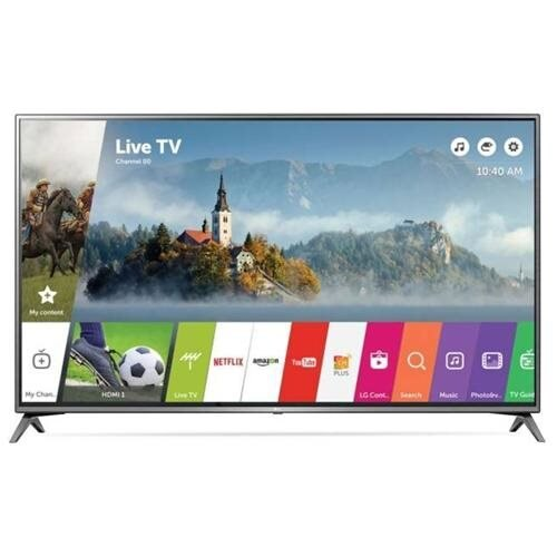 """LG UJ6300 55UJ6300 55"""" 2160p LED-LCD TV - 16:9 - 4K UHDTV - Black - ATSC - 178 / 178 - 3840 x 2160 - DTS HD, ULTRA Surround - 20 W RMS - LED Backlight - Smart TV - 3 x HDMI - USB - Ethernet - Wireless LAN - PC Streaming - Internet Access 0"""