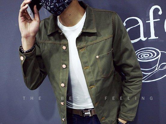 【JP.美日韓】牛仔夾克外套牛仔口袋外套休閒丹寧潮流外套棒球外套MA1軍裝墨綠質感硬挺好穿男裝流行OVK nike