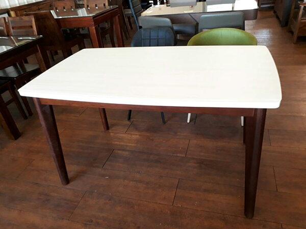 【尚品傢俱】774-17杉夏4尺磨砂玻璃實木餐桌