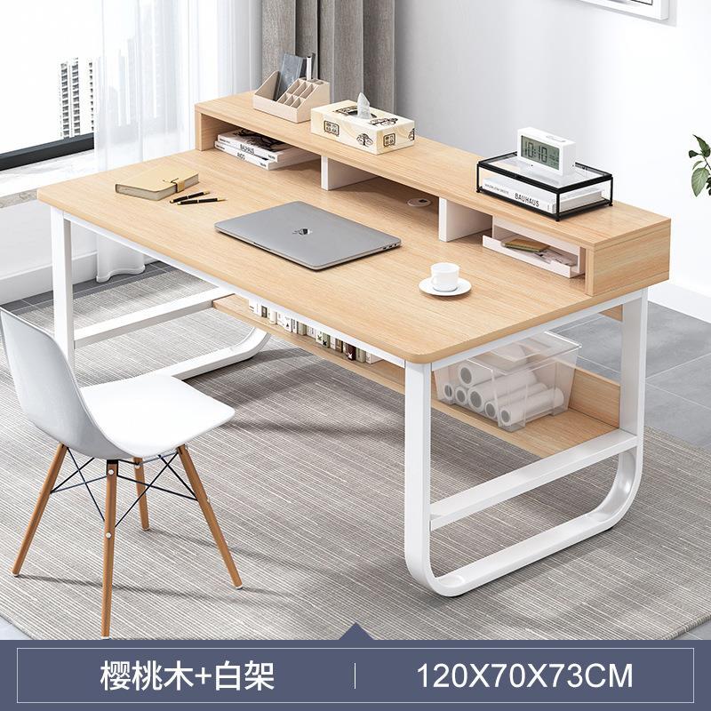 120*60CM辦公桌電腦臺式桌玻璃家用臥室簡約現代簡易書桌電競學習